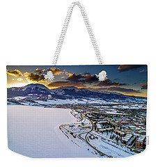 Weekender Tote Bag featuring the photograph Lake Dillon Sunset by Sebastian Musial