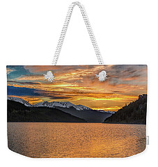 Lake Dillon Sunset Weekender Tote Bag