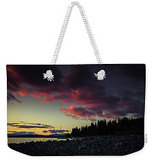 Weekender Tote Bag featuring the photograph Lake Dreams by Jan Davies