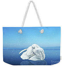 Lake Effects And The Trumpeter Swan Weekender Tote Bag by Janette Boyd