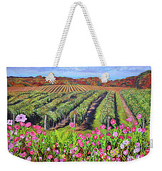 Lake Erie Vineyard-fall Colors Weekender Tote Bag