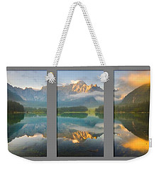 Lake Fusine In Triptych Weekender Tote Bag