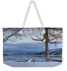 Lake George In The Winter Weekender Tote Bag