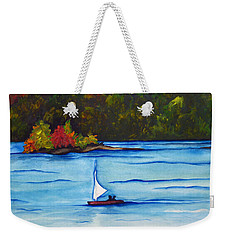 Weekender Tote Bag featuring the painting Lake Glenville  Sold by Lil Taylor