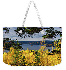 Lake Hiidenvesi Autumnscape 3 Weekender Tote Bag