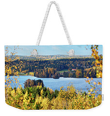 Lake Hiidenvesi Autumnscape Weekender Tote Bag