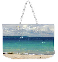 Weekender Tote Bag featuring the photograph Lake Huron Sailboat by Meta Gatschenberger