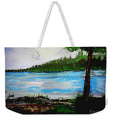 Lake In Virginia The Painting Weekender Tote Bag