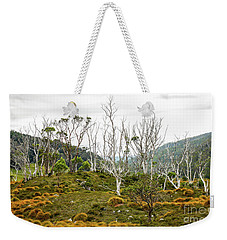 Lake Lilla Track 1 Weekender Tote Bag by Lexa Harpell