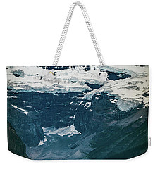 Weekender Tote Bag featuring the photograph Lake Louise At Distance by William Lee