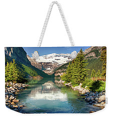 Weekender Tote Bag featuring the photograph Lake Louise by Mary Jo Allen