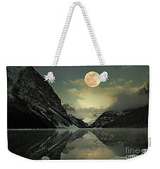 Lake Louise Moon Glow Weekender Tote Bag by Andrea Hazel Ihlefeld