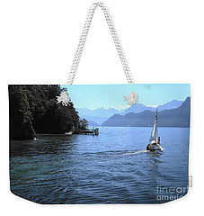Lake Lucerne Weekender Tote Bag by Therese Alcorn