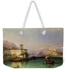 Lake Maggiore Weekender Tote Bag by George Edwards Hering