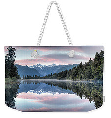 Lake Matheson Panorama Weekender Tote Bag