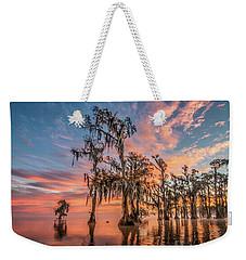 Lake Maurepas On Fire Weekender Tote Bag