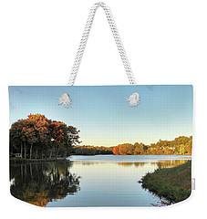 Weekender Tote Bag featuring the photograph Lake by Melinda Blackman