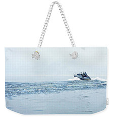 Weekender Tote Bag featuring the photograph Lake Michigan Boating by Lars Lentz