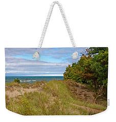 Lake Michigan Shore Weekender Tote Bag