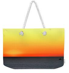 Lake Michigan Sunrise Weekender Tote Bag by Zawhaus Photography