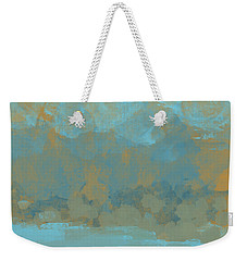Weekender Tote Bag featuring the digital art Lake Mountain by Jessica Wright