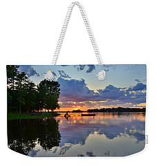 Weekender Tote Bag featuring the photograph Lake Murray Sc Reflections by Lisa Wooten