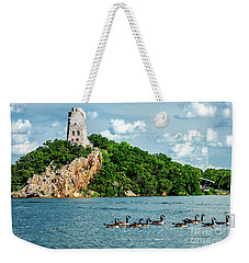 Lake Murray's Gaggle Of Geese Weekender Tote Bag by Tamyra Ayles