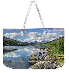 Lake Mymbyr And Snowdon Weekender Tote Bag by Ian Mitchell