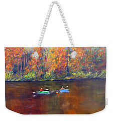 Lake Nockamixon Autumn Weekender Tote Bag