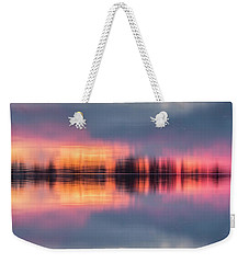 Weekender Tote Bag featuring the photograph Lake Norman Sunset by Ronald Santini