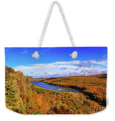 Lake Of The Clouds Fall Glory Weekender Tote Bag by Rachel Cohen