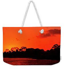 Lake Osborne Sunset Weekender Tote Bag
