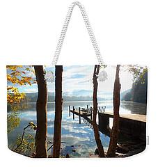 Lake Padden Autumn Reflection Weekender Tote Bag