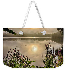 Weekender Tote Bag featuring the photograph Lake Pentucket Sunrise, Haverhill, Ma by Betty Denise