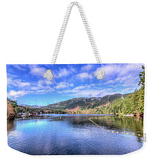 Weekender Tote Bag featuring the photograph Lake Samish by Spencer McDonald