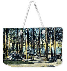 Lake Shore Park - Gilford N H Weekender Tote Bag by Mim White