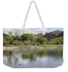 Lake Skinner In Spring Weekender Tote Bag