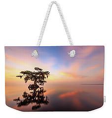 Lake Sunrise Weekender Tote Bag