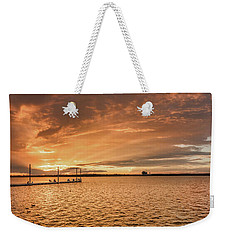 Weekender Tote Bag featuring the photograph Lake Sunset by Robert Bellomy