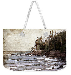Lake Superior Waves Weekender Tote Bag