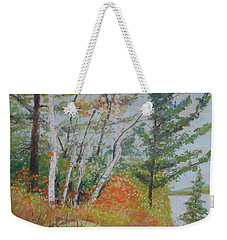Lake Susie In Fall Weekender Tote Bag