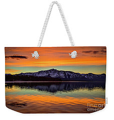Lake Tahoe Glow Weekender Tote Bag by Mitch Shindelbower