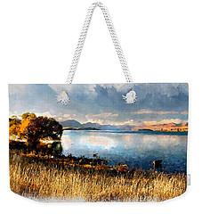 Weekender Tote Bag featuring the digital art Lake Tekapo by Kai Saarto
