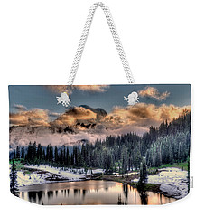 Lake Tipsoo, Mt Rainier Weekender Tote Bag by Greg Sigrist