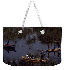 Lake Titicaca Reed Boats Weekender Tote Bag