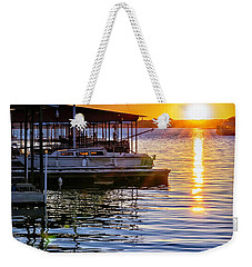 Weekender Tote Bag featuring the photograph Lake Travis by Walt Foegelle