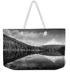 Weekender Tote Bag featuring the photograph Lake Trillium In Black And White by Lynn Hopwood