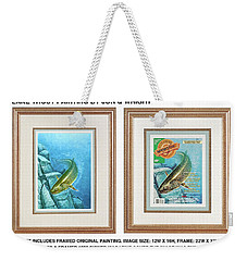 Weekender Tote Bag featuring the painting Lake Trout Original by Jon Q Wright
