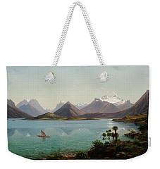Lake Wakatipu With Mount Earnslaw. Middle Island New Zealand Weekender Tote Bag