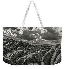 Weekender Tote Bag featuring the photograph Lake Watson Granite Rocks Prescott Arizona Bnw 2482 by David Haskett